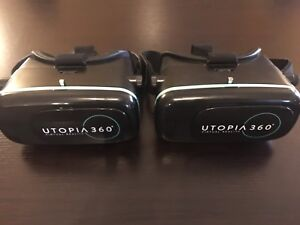 TWO ReTrak Utopia 360 VR Virtual Reality Headsets/Goggles