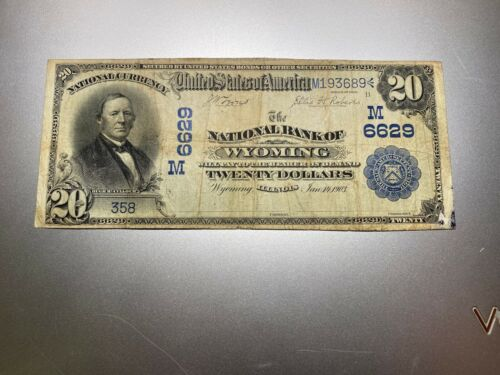 WYOMING, ILLINOIS 1902 NATIONAL NOTE. CHARTER 6629.