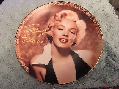 Marilyn Monroe Collector's Plate Bewitching in Black Love Marilyn