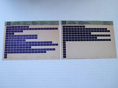 TRIUMPH 1300 & 1300TC PARTS MICROFICHE FULL SET OF 2 SEPTEMBER 1978 RTC9815FA