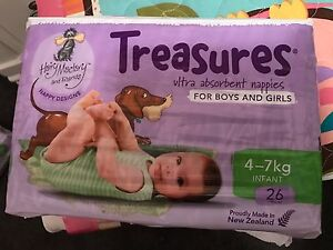 Little Treasures Nappies 26pk 4-7kg boy and girl Huntfield Heights Morphett Vale Area Preview