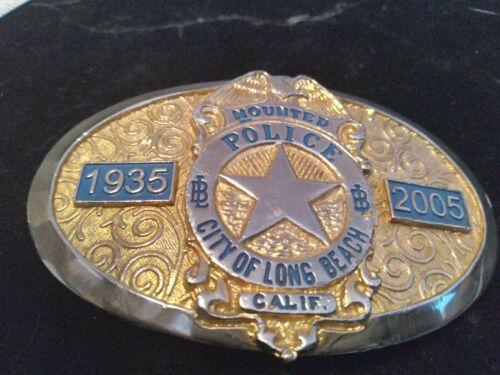 mounted police belt buckle long beach,ca 1935-2005