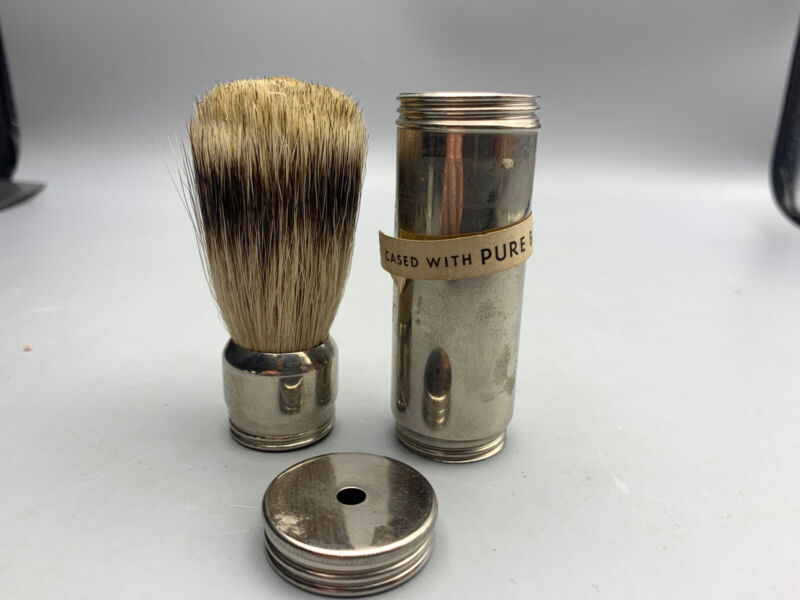 Vintage Pure Badger Hair Shaving Brush With Case