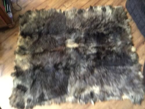 Vintage Furrier Made winter Buffalo Sleigh Robe Blanket Cover Skin Circa 1890
