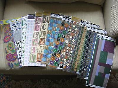 Sticko Stickers Halloween 6 Alphabet Lot Stencil Brown Plants Pink Blue Black &](Halloween Alphabet Stencils)