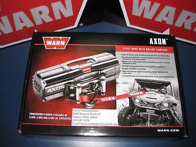 """Warn 101145 AXON 45 ATV UTV Quad Winch 4500 Lb 50' 1/4"""" Cable Roller Fairlead"""