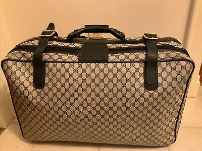 "Gucci Rare 27"" Vintage 80s GG Monogram Suitcase Luggage Travel Bag"