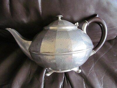 vintage Trade civic beaten pewter art deco tea pot