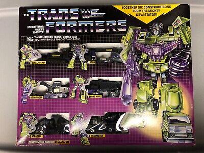 transformers devastator constructicons reissue G1 BLACK (open)