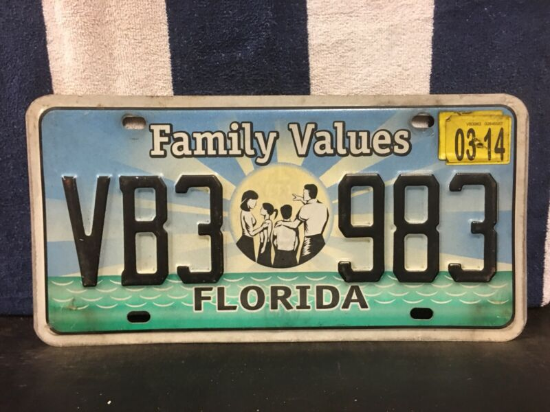 2014 Florida License Plate (Family Values)