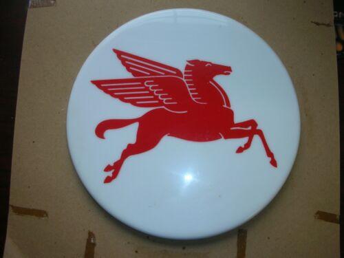 """Vintage Mobil Pegasus sign 12"""" Round."""
