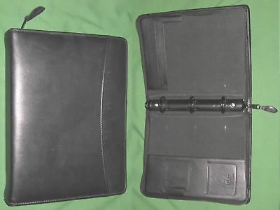 Classic 1.25 Black Leather Day Runner Planner Binder Franklin Covey 7162