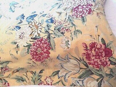 Pottery Barn Elodie Yellow Red Green Blue Floral Euro Pillow Sham
