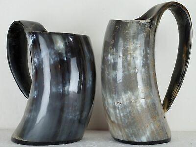 2 Mug Set Medieval Viking Steins Vintage Beer Steins Drinkware Collectibles Horn
