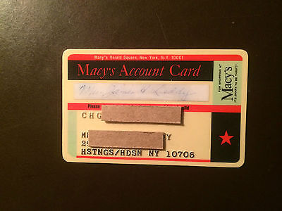 Macy's 1970's Vintage Collectors Credit Card - Herald Square New York City