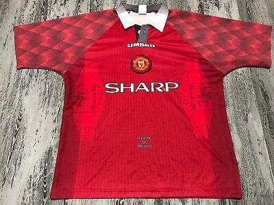 4c56b445090 A Vintage Original Manchester United 1996 Futbol Jersey Shirt Umbro Soccer  XL