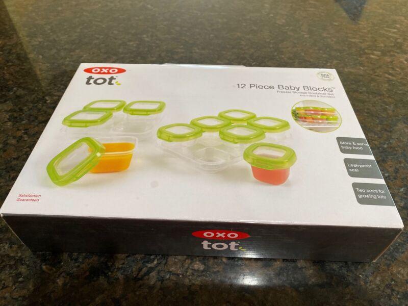 OXO Tot 12-Piece Baby Blocks Set, green