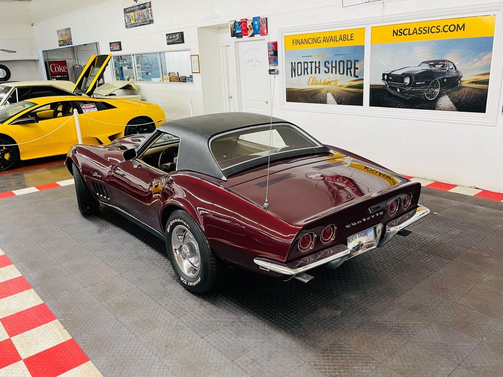 1968 Burgundy Chevrolet Corvette   | C3 Corvette Photo 3