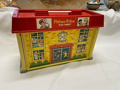 Vintage Fisher Price Little People Play Family #931 CHILDREN HOSPITAL & Nursery