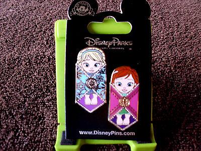 Disney * PRINCESS ELSA & ANNA * FROZEN INFANTS - BABIES * New on Card 2 Pin Set