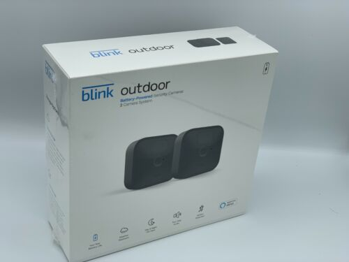 Blink Outdoor Security Camera System | 2020 Newst Model 2 Cameras kit + Alexa