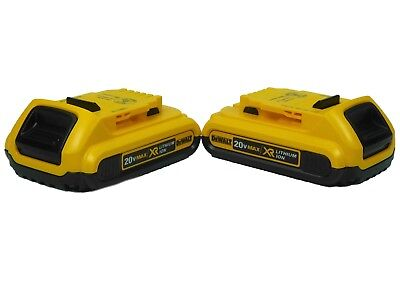 New DeWalt DCB203 20V 2.0Ah Compact Li-Ion Batteries (2-Packs)