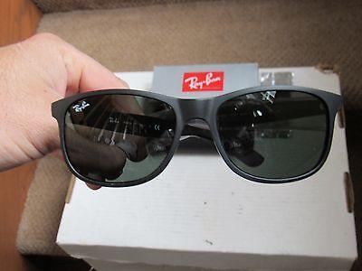 New Ray-Ban # 4202 black frame polarized sunglasses by Luxottica NIB case