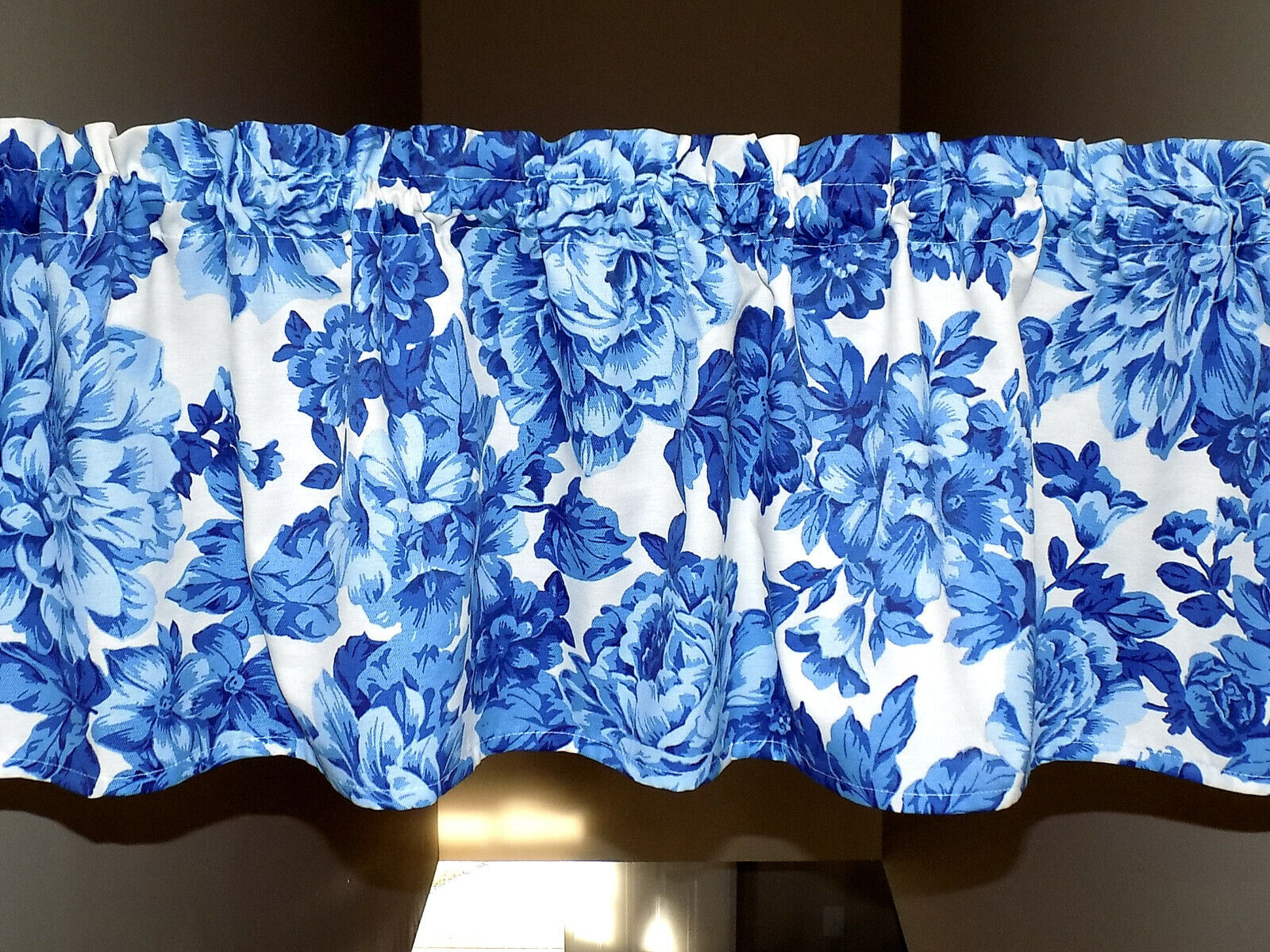 Pioneer Woman Heritage Blue White Floral Valance Curtain Win