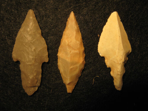 3 Authentic North African Neolithic Arrowheads 3000-7000 Years Old Artifacts #C8