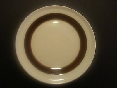 Rorstrand Sweden Forma P555 Dinner Plate Mid Century Brown Ivory