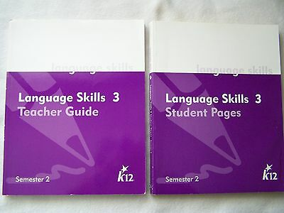 K12 Language Skills 3 Semester 2 Student Pages And Teacher Guide