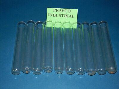 Lot Of 10 8 Glass Test Tubes 1-1161.0625 Diameter