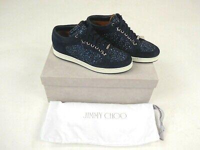 Jimmy Choo Blue Glitter Miami Sneaker Size 35 UK 2