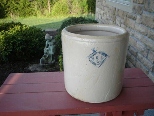 Antique Pittsburg Pottery Stoneware #5  Crock  No Chips Or Cracks Rare VGC
