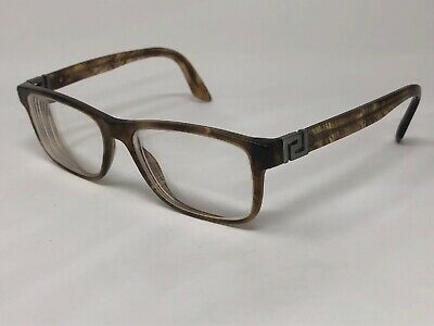 VERSACE MOD.3211 5143 Eyeglasses Frame Italy 55-17-145 Brown Marble Clear NP77