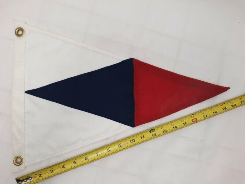 "Davis Island Yacht Club Tampa, Fl. burgee flag, nylon,  13"" x 20""  Beaver Flags"