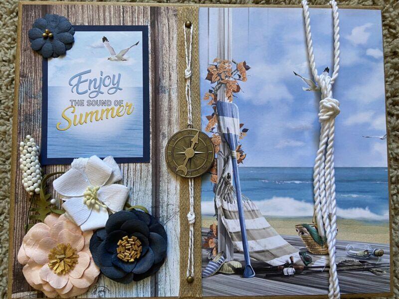Handmade Scrapbook Mini Album The Sound Of Summer Ciao Bella