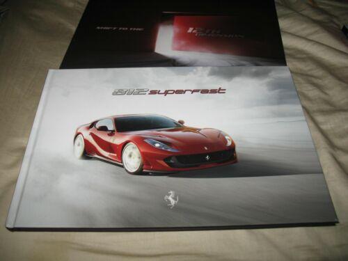 Ferrari 812 Superfast hardcover prestige brochure with slipcase 5851/17