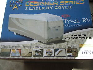 """""""NEW"""" ADCO Tyvek Designer Class A   R V Cover"""