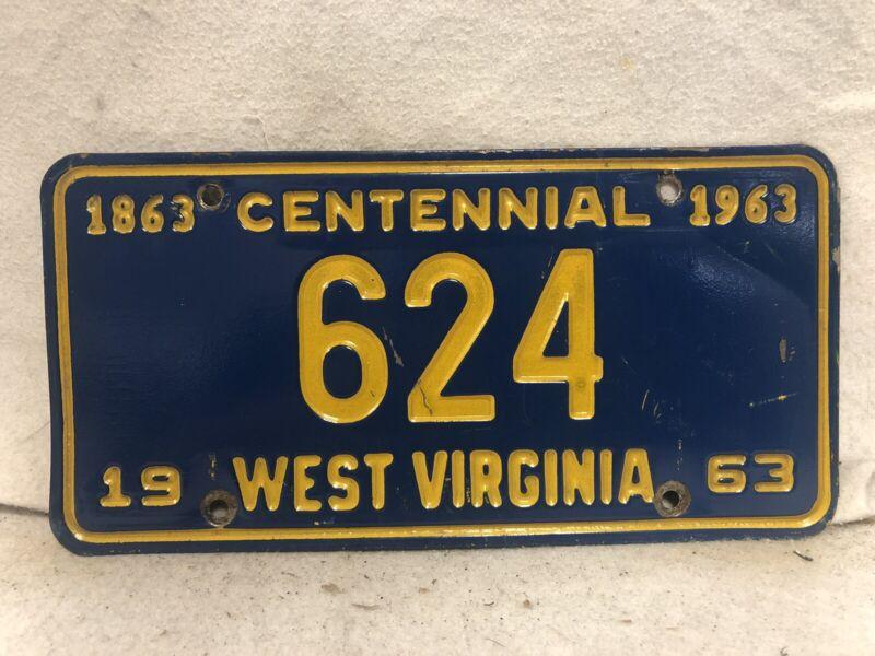 Vintage 1963 West Virginia License Plate