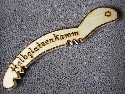 Halbglatzenkamm, Handarbeit, Holz, Scherzartikel, geniales Geschenk, NEU !