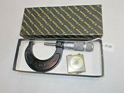 Brown Sharpe 1 - 2 Machinist .0001 Micrometer Setting Std. Original Box