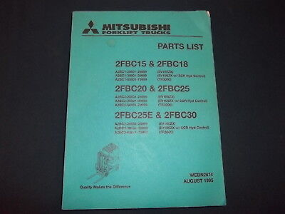 Mitsubishi 2fbc15 2fbc18 2fbc20 2fbc25 2fbc25e 2fbc30 Forklift Parts Manual Book