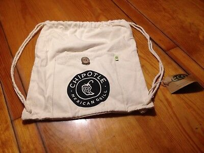 Cinch Natural - Chipotle Mexican Grill- Natural Canvas Cinch Bag-Bnwt