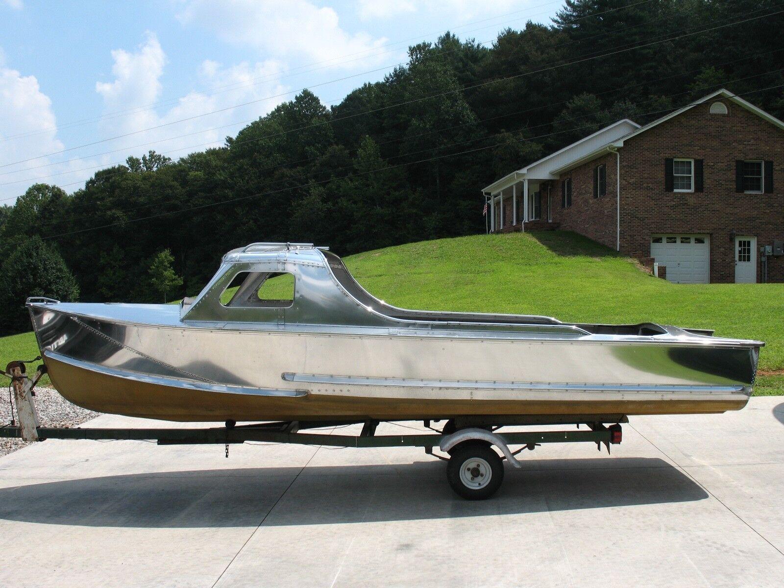 1957 Crestliner Voyager Patrol Hardtop Aluminum Boat Vintage