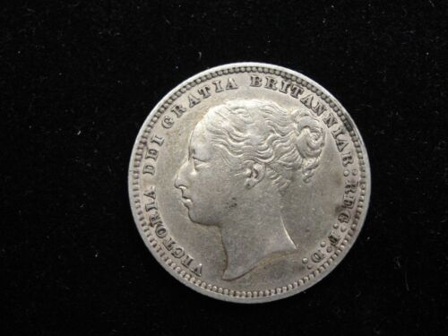 1878 Britain One Shilling Silver Coin Looks XF/AU