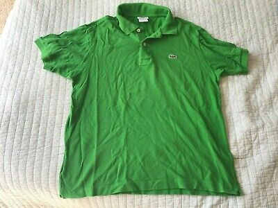 LACOSTE: GREEN POLO STYLE SHORT SLEEVE SHIRT: SIZE 4
