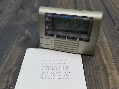 Dymo Datemark Electronic Date Time Stamp Tested  Working