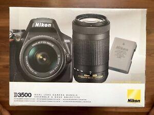 Brand NEW Mint Nikon D3500 Dual Lens Bundle, 2 lens!