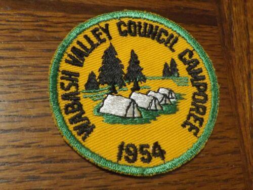 BOY SCOUT PATCH 1954 WABASH VALLEY COUNCIL